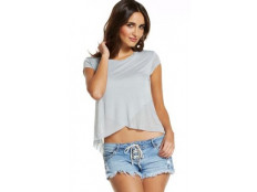 Elan Top Cap Sleeve Crossover Top